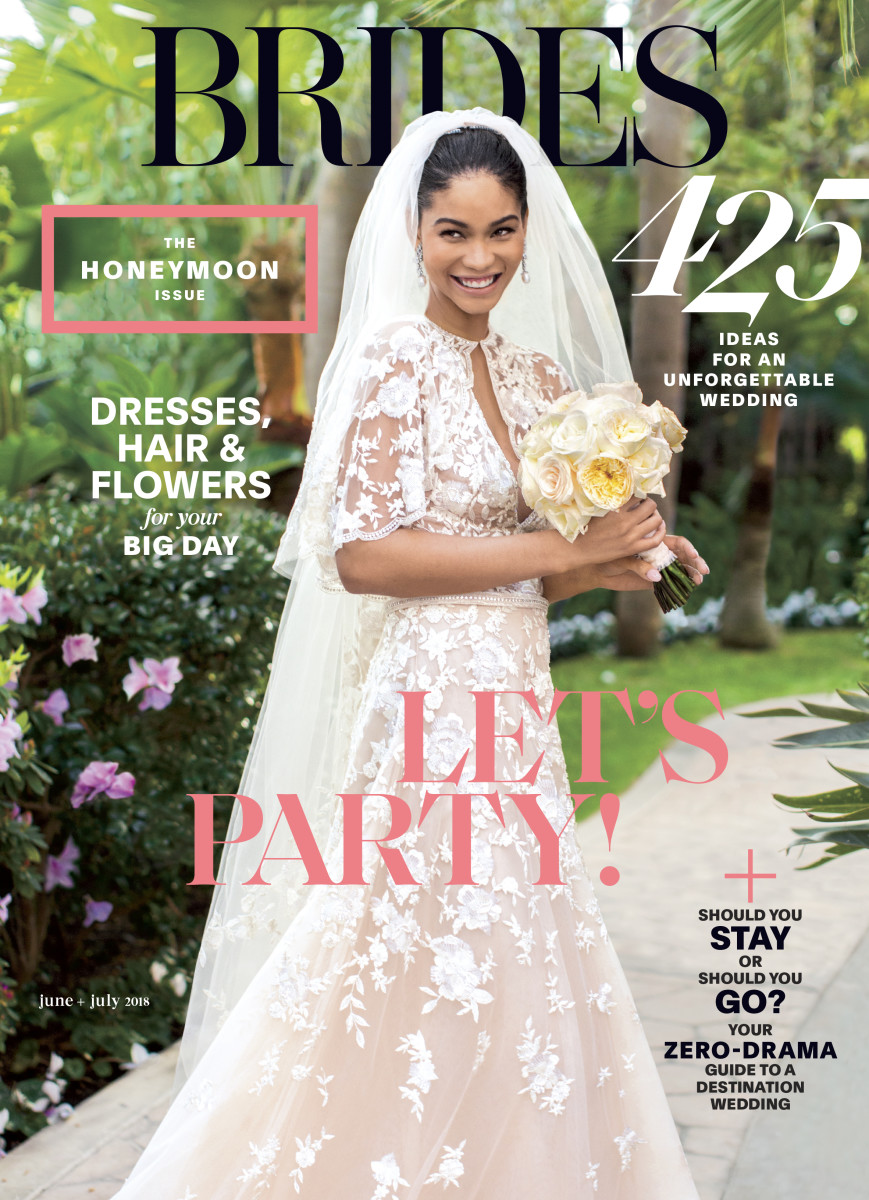 e104d7e842f Chanel Iman covers the  Brides  June-July 2018 issue. Photo  Amy