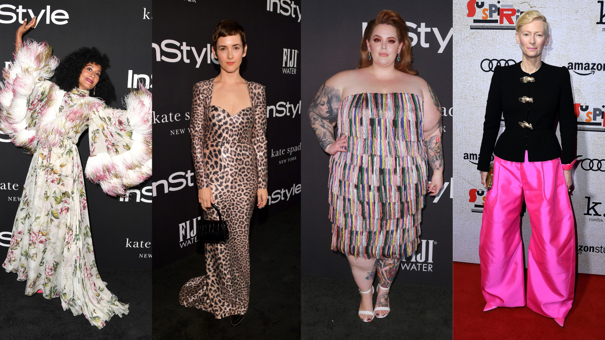 Tracee Ellis Ross, Karla Welch, Tess Holliday and Tilda Swinton. Photos: Getty Images