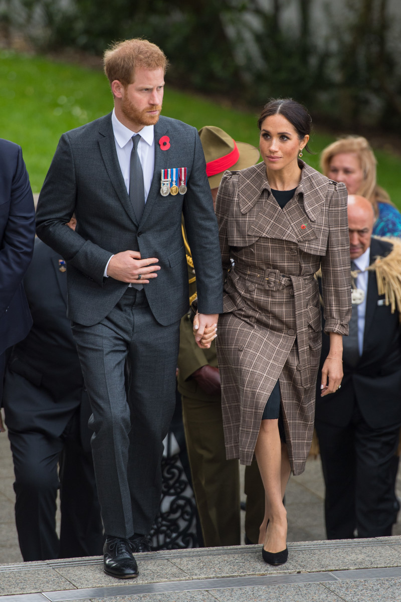 Duke of Sussex Prince Harry and Duchess of Sussex Meghan Markle visit Pukeahu National War Memorial Park in Wellington, New Zealand. Photo: Dominic Lipinski/Pool /Getty Images