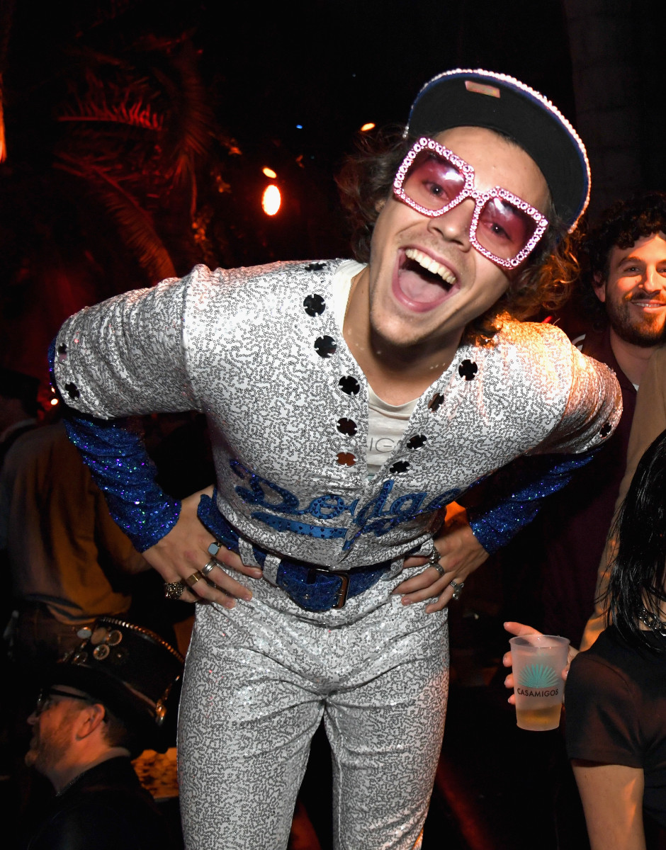 Harry Styles at the Casamigos 2018 Halloween Party. Photo: Kevin Mazur/Getty Images