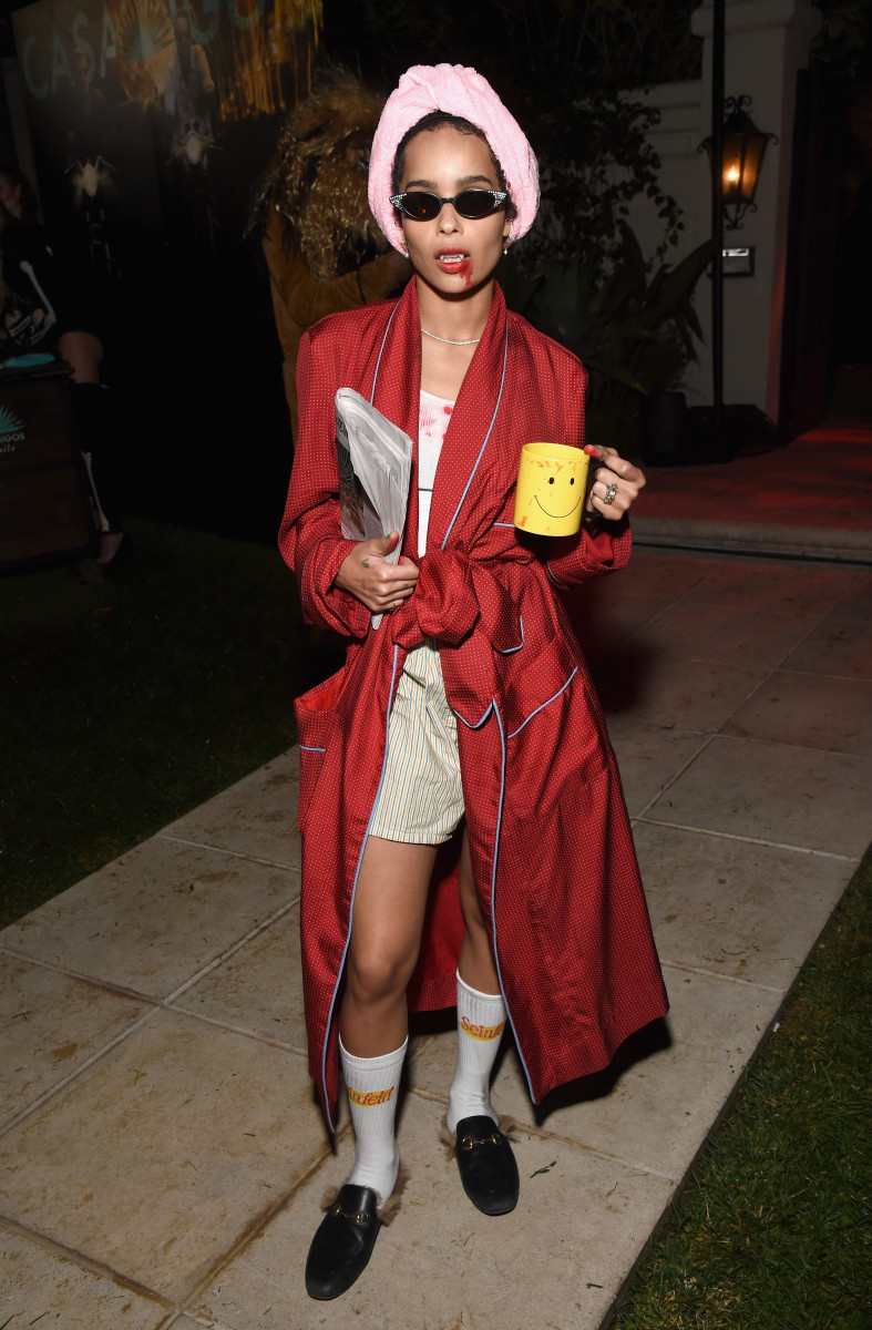 Zoe Kravitz at the Casamigos Halloween Party in Beverly Hills, California. Photo: Michael Kovac/Getty Images