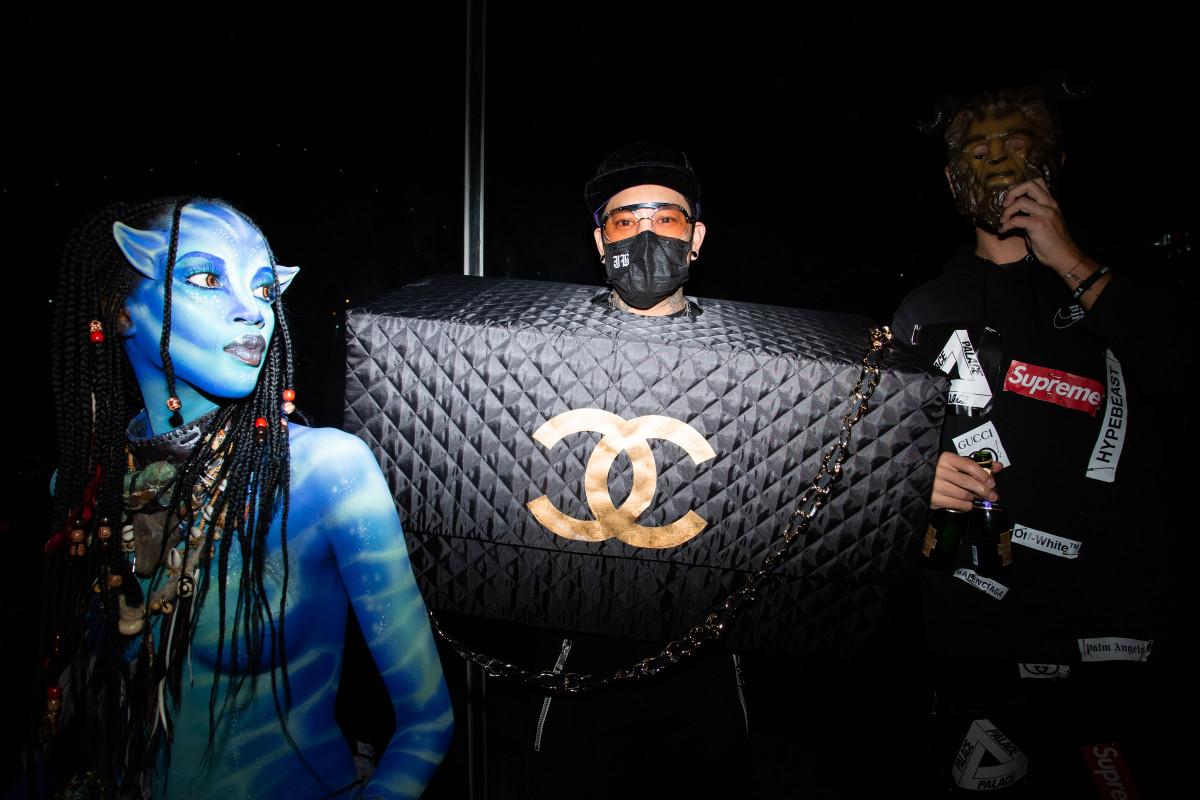 """JonBoyat the """"V Magazine"""" Halloween Party in New York City. Photo: Courtesy of BFA"""