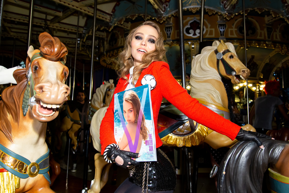"Lily-Rose Deppat the ""V Magazine"" Halloween Party in New York City. Photo: Courtesy of BFA"
