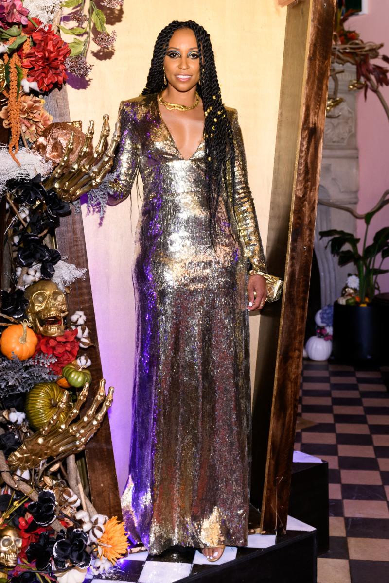 "Shiona Turiniat the ""Your Worst Nightmare"" Halloween Party. Photo: Courtesy of BFA"