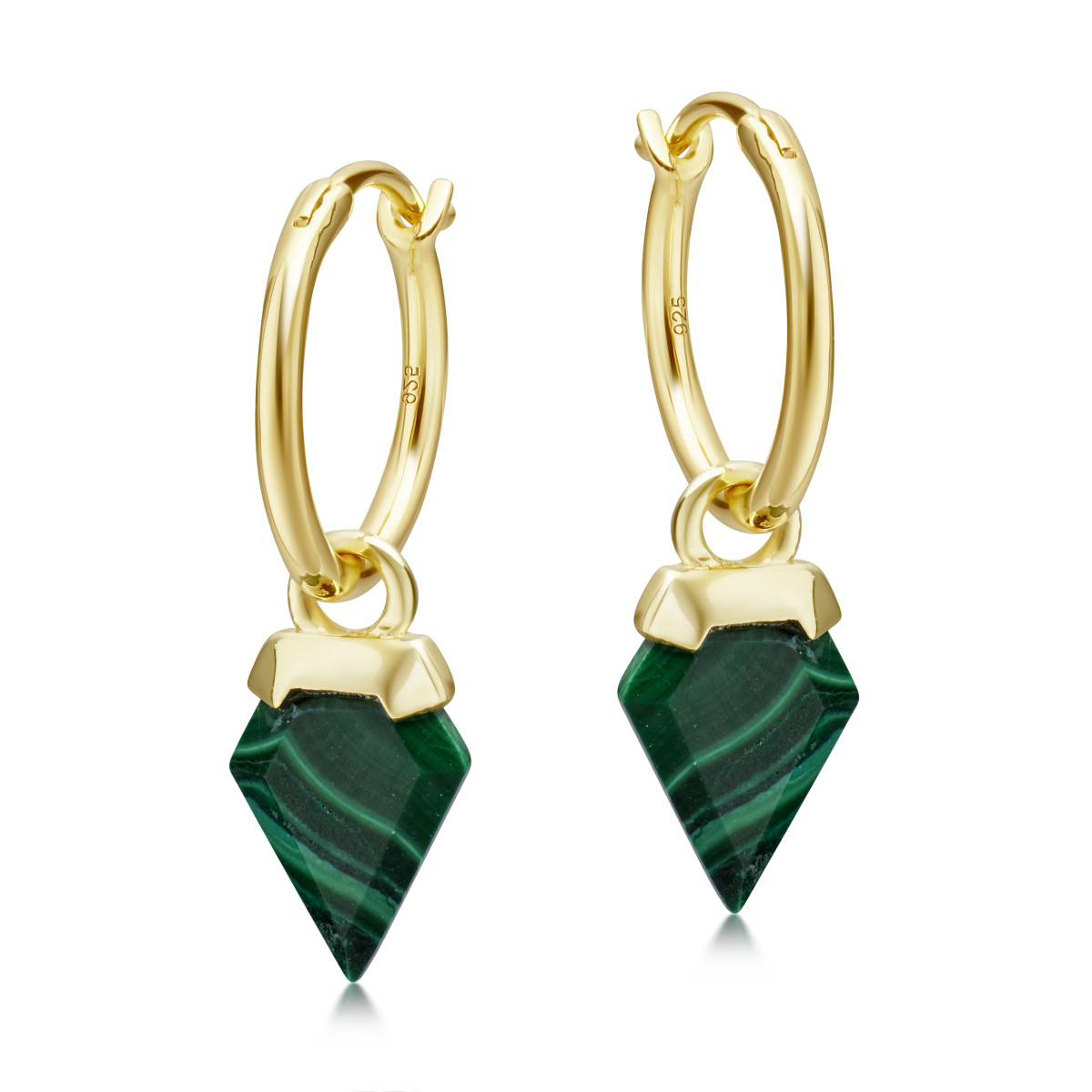 Earrings from Missoma's 'meaningful gemstones' collection. Photo: Courtesy of Missoma