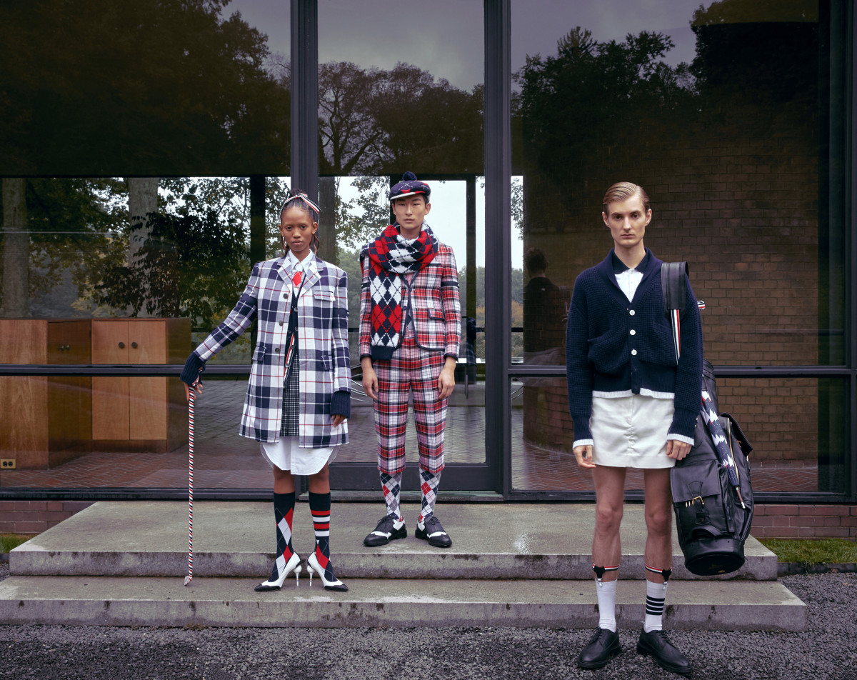 Looks from Thom Browne's golf capsule. Photo: Courtesy of Thom Browne