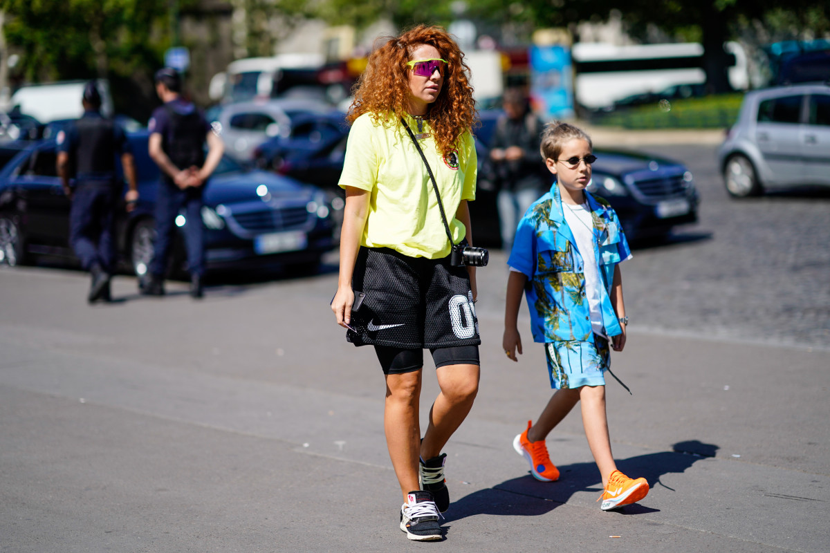 Natasha Zinko and Ivan G at the Spring 2019 Paris Fashion Week Menswear shows. Photo: Edward Berthelot/Getty Images