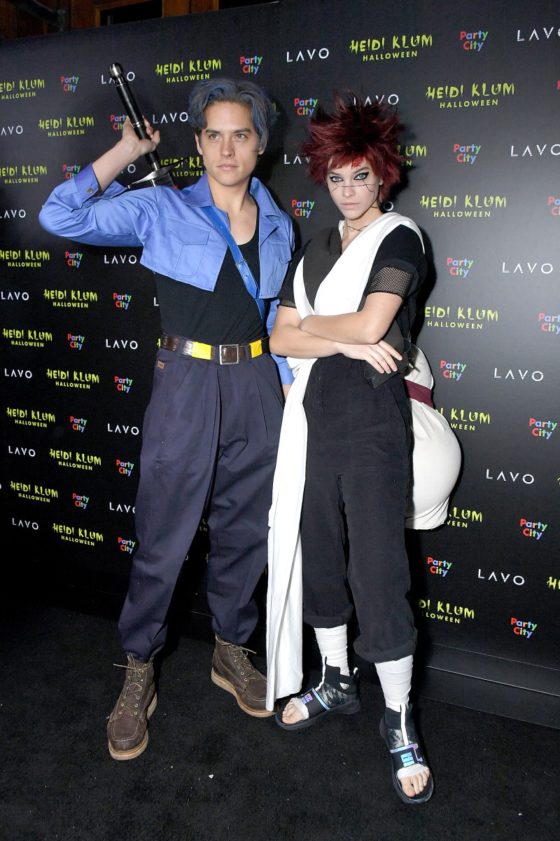 Dylan Sprouse and Barbara Palvin at Heidi Klum's 19th Annual Halloween Party. Photo: Michael Loccisano/Getty Images