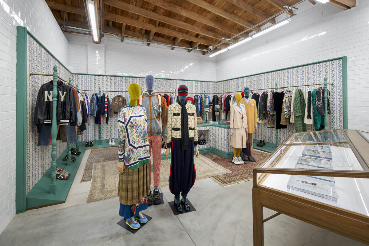 Gucci shop at Dover Street Market Los Angeles. Photo: Courtesy Eric Staudenmaier