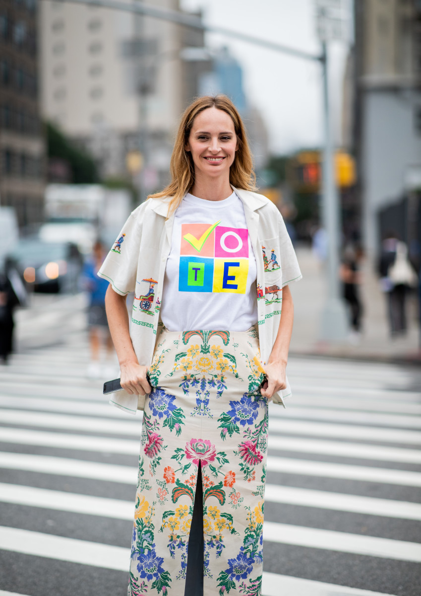 Lauren Santo Domingo on the street during New York Fashion Week in September. Photo: Christian Vierig/Getty Images