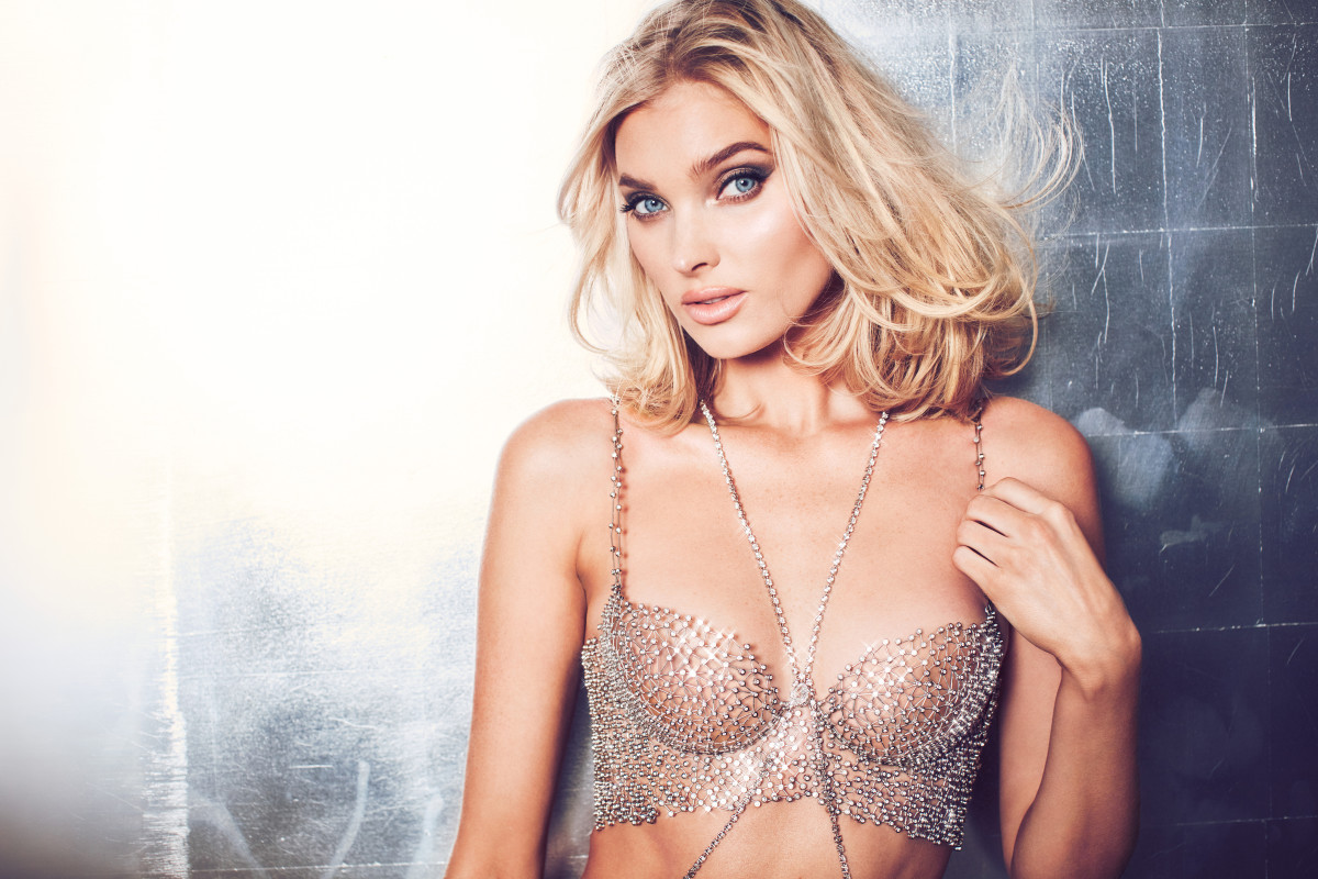 f52920e857 Victoria s Secret Angel Elsa Hosk wears the Dream Angels Fantasy Bra  designed by Atelier Swarovski.