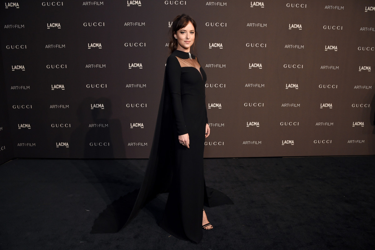 Dakota Johnson in Gucci. Photo: Getty Images for LACMA