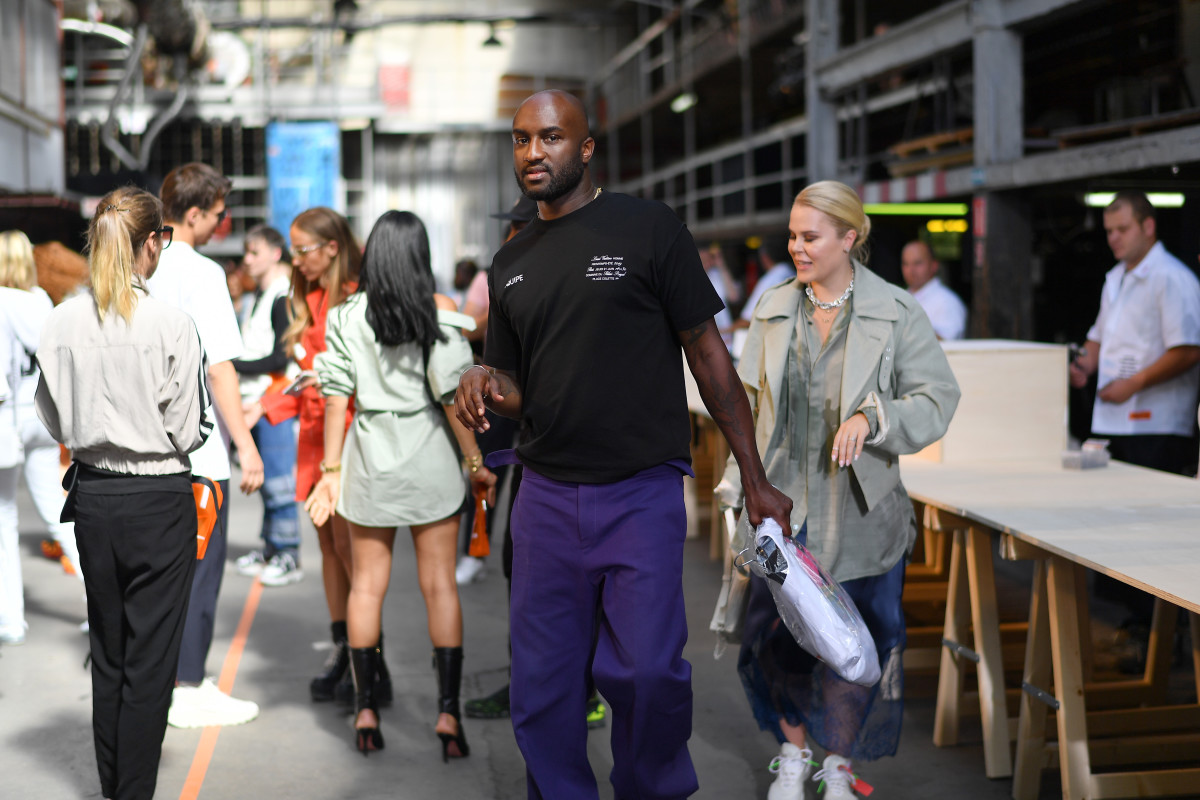 Virgil Abloh at Heron Preston's Spring 2019 Men's presentation. Photo: Jacopo Raule/Getty Images