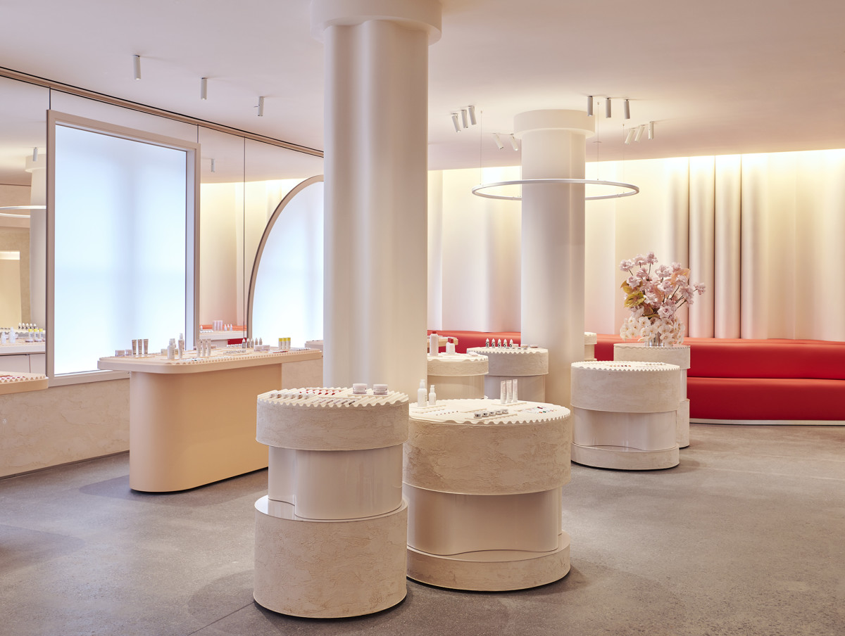 Inside Glossier's flagship. Photo: Courtesy of Glossier