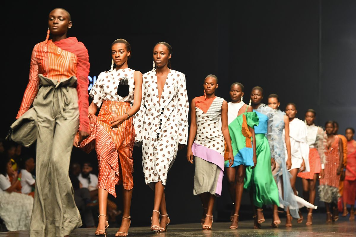 Looks from Fruche's Spring 2019 runway show at Lagos Fashion Week in October 2018. Photo: Pius Utomi Ekpei/AFP/Getty Images