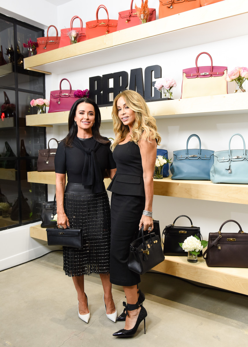 Kyle Richards and Faye Resnick at Rebag Melrose Place. Photo: BFA