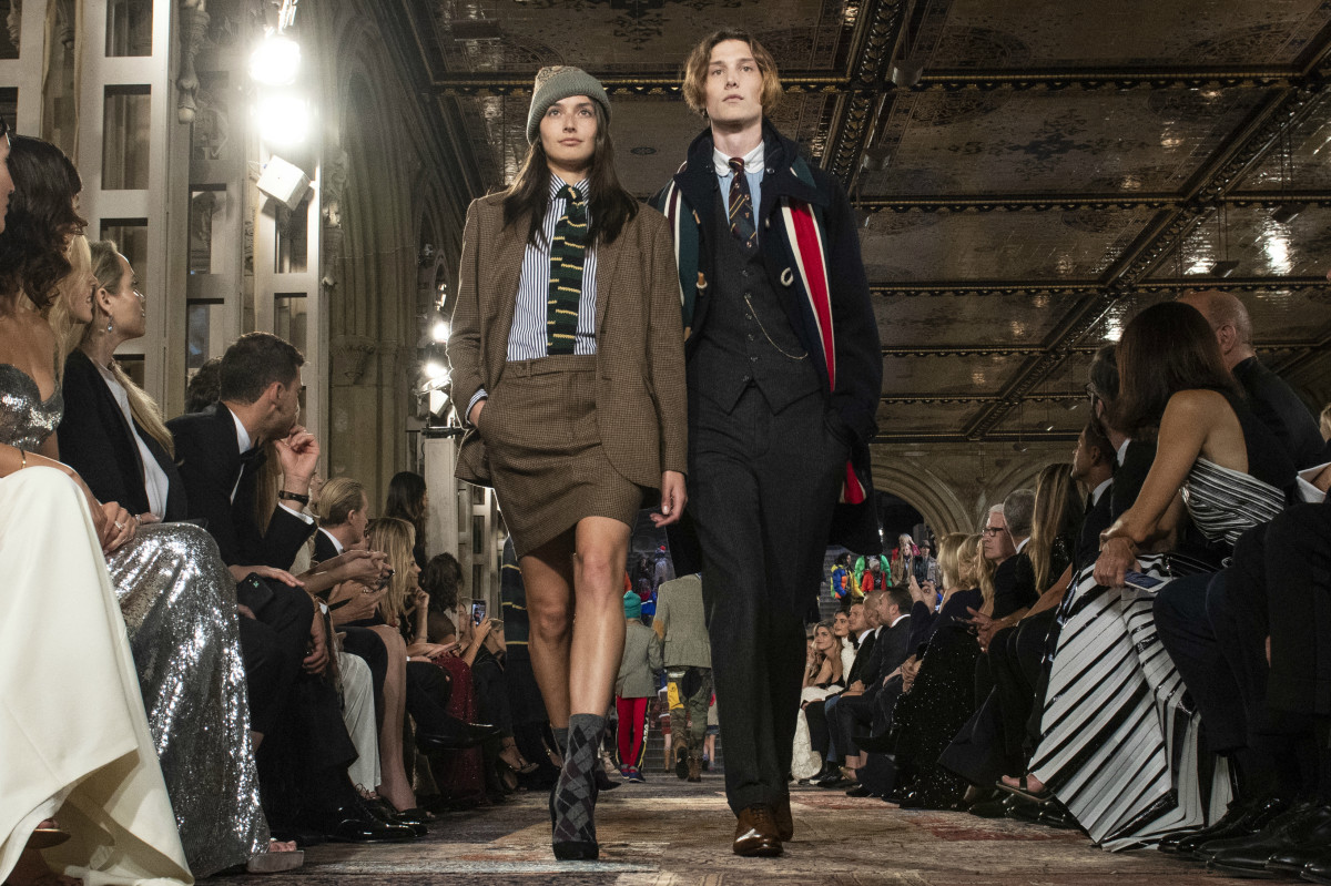 Looks from Ralph Lauren's 50th anniversary show during New York Fashion Week. Photo: Pietro D'aprano/FilmMagic