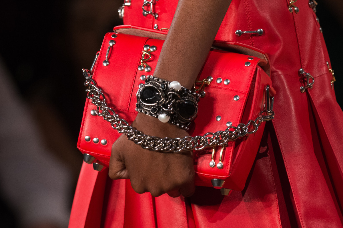 A cuff on the Alexander McQueen Spring 2018 runway. Photo: Francois Durand/Getty Images