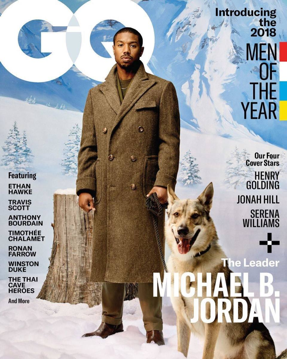 "Michael B. Jordan on the cover of ""GQ""'s Men of the Year 2018 issue. Photo: Awol Erizku"