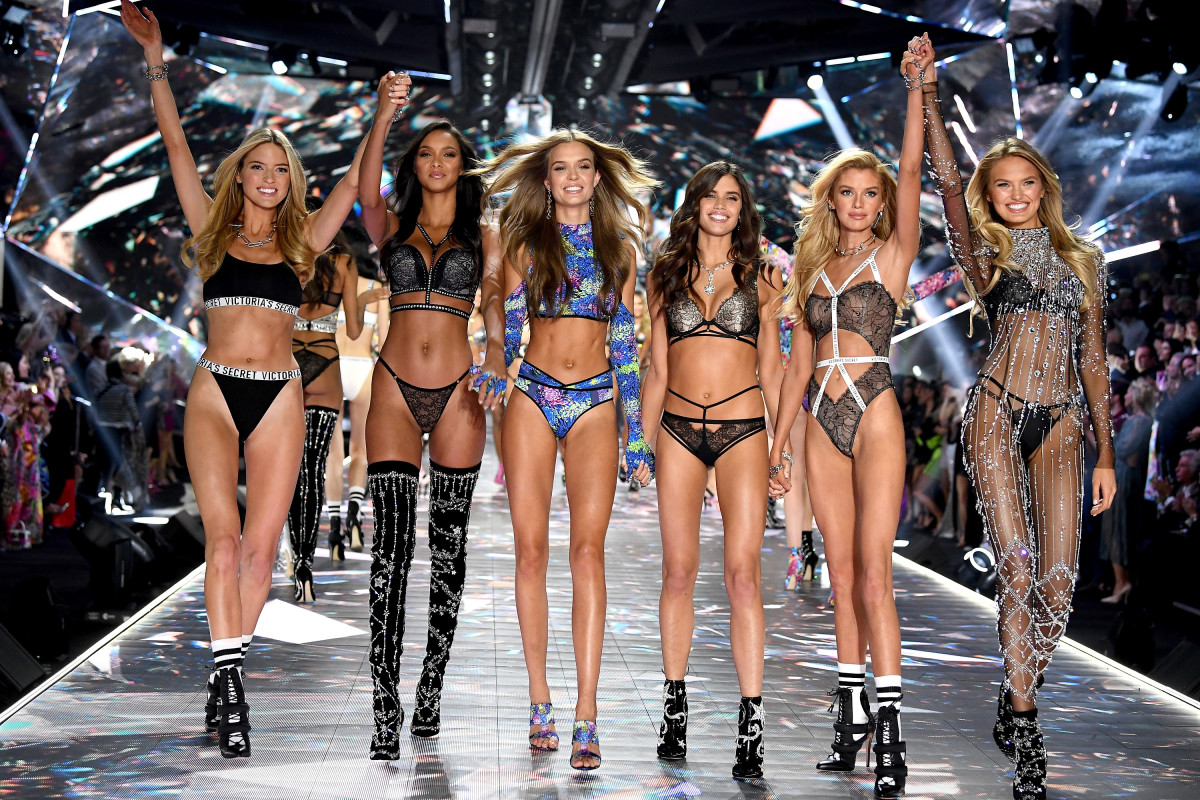 Models on the runway at the 2018 Victoria's Secret Fashion Show. Photo: Dimitrios Kambouris/Getty Images for Victoria's Secret