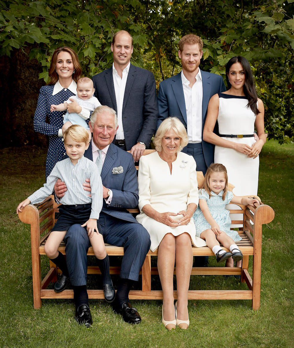 The Royal Family in an official portrait to celebrate Prince Charles's 70th birthday. Photo: Chris Jackson/Courtesy of Kensington Palace/@kensingtonroyal/Instagram