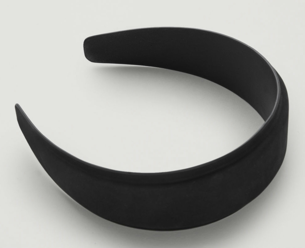Cos Padded Nubuck Leather Headband, $49, available here.
