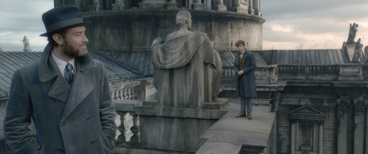 Young Dumbledore (Jude Law) and Newt. Photo: Courtesy of Warner Bros. Pictures