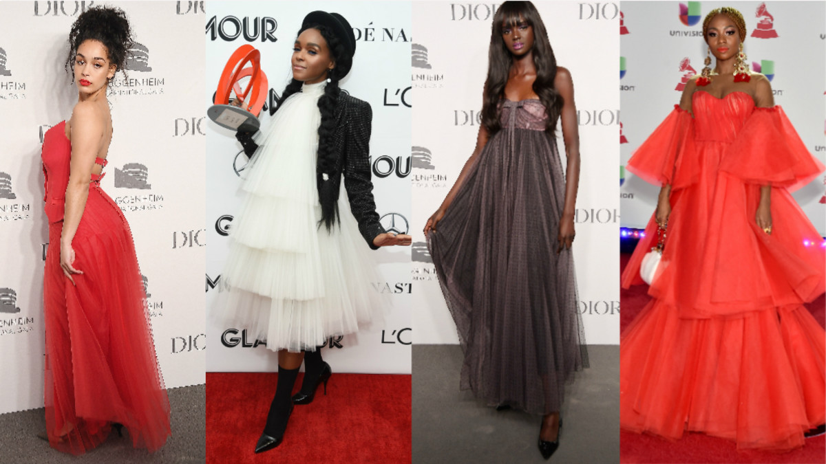 "Jorja Smith. Photo: Nicholas Hunt/Getty Images for Dior; Janelle Monáe. Photo: Dimitrios Kambouris/Getty Images for Glamour; Duckie Thot. Photo: Nicholas Hunt/Getty Images for Dior; Gloria ""Goyo"" Martinez of ChocQuibTown. Photo: David Becker/Getty Images for LARAS"