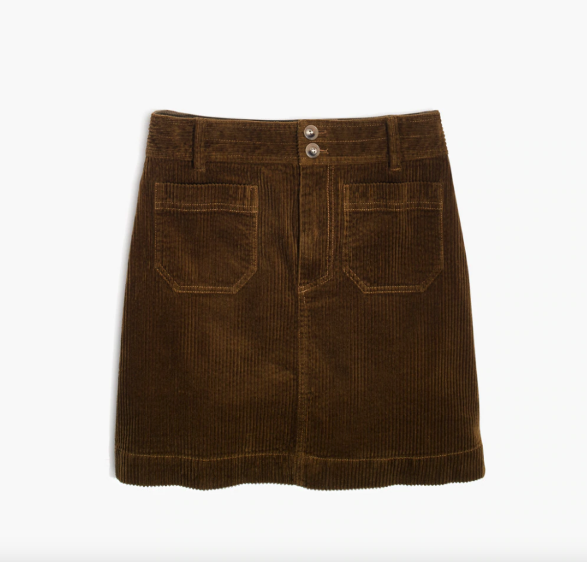 Madewell Corduroy A-Line Mini Skirt, $79.50, available here.
