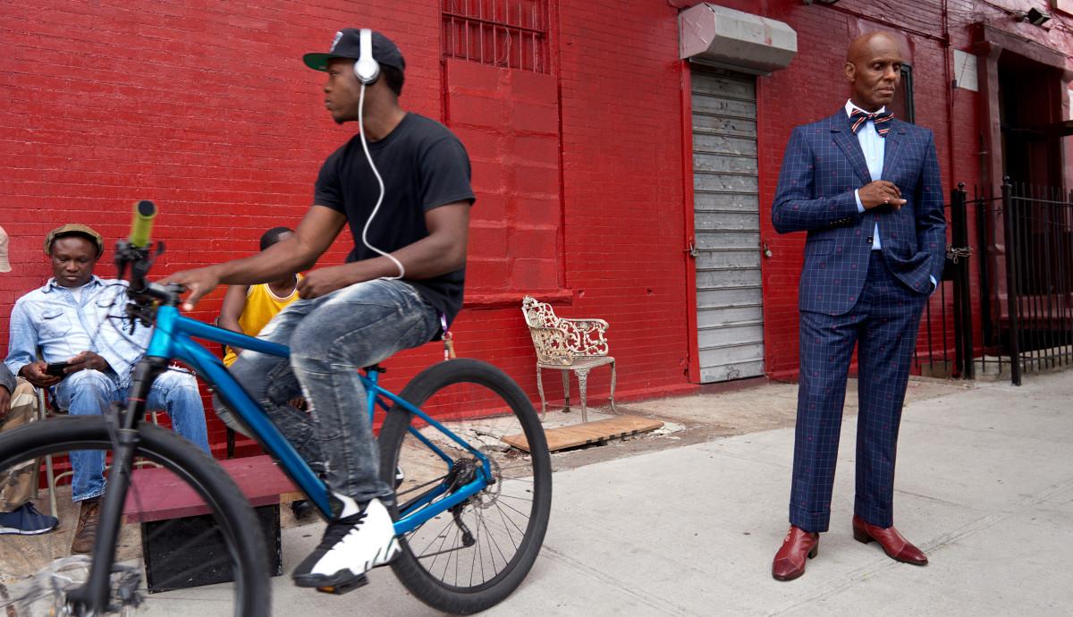 Dapper Dan in Gucci's men's tailoring campaign. Photo: Glen Luchford