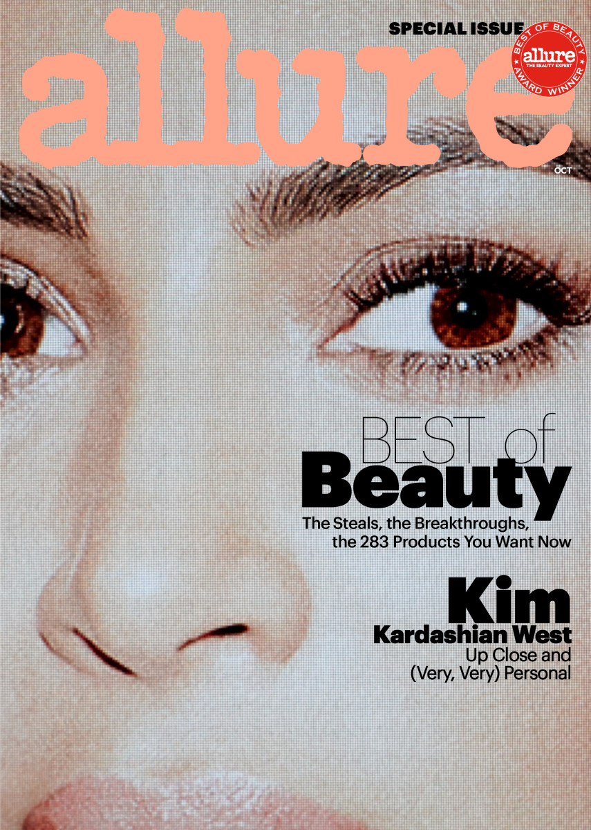 "Kim Kardashian on the October issue of ""Allure."" Photo: Daniel Jackson"