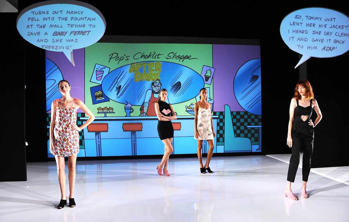 A scene from Rachel Antonoff's Betty and Veronica collaboration presentation. Photo: Desiree Navarro/Getty Images