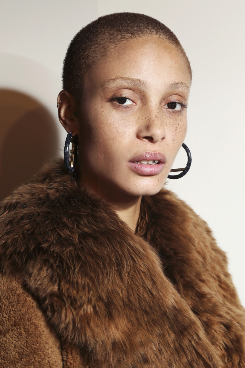 Adwoa Aboah backstage at Fendi's Fall 2017 show. Photo: Imaxtree