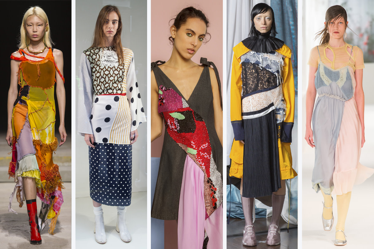 (L-R): Fashion East, MM6 Martin Margiela, Roberta Einer, Haizhen Wang and Preen by Thornton Bregazzi. Photos: Imaxtree