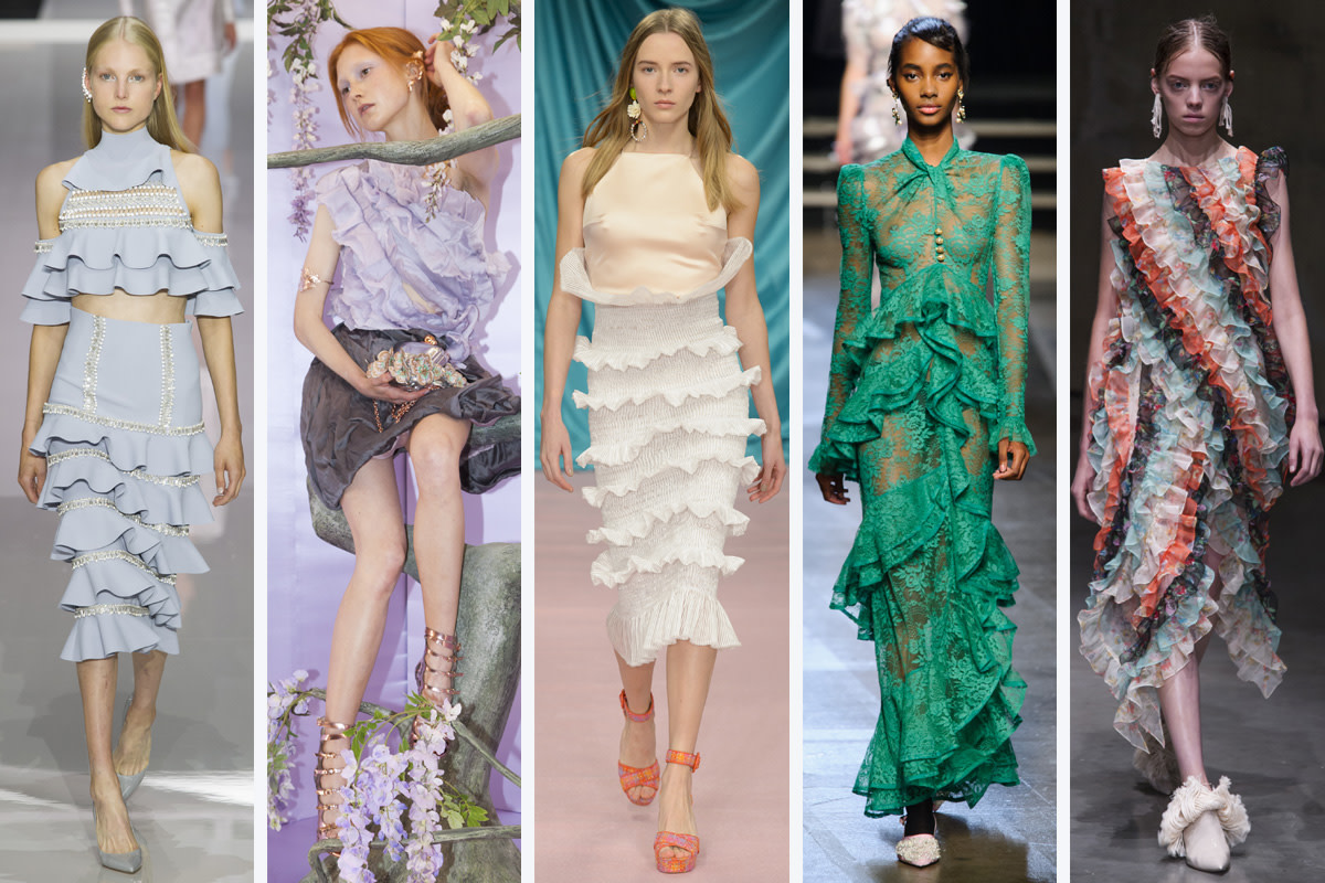 (L-R): Ralph & Russo, Sophia Webster, Emilio de la Morena, Erdem and Christopher Kane. Photos: Imaxtree