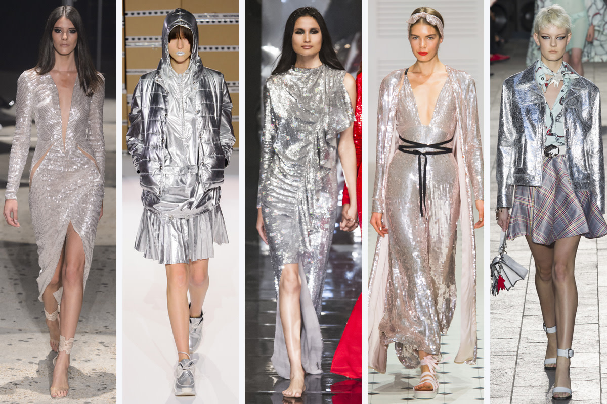(L-R): Julien MacDonald, Nicopanda, Ashish, Temperley London and Versus Versace. Photos: Imaxtree