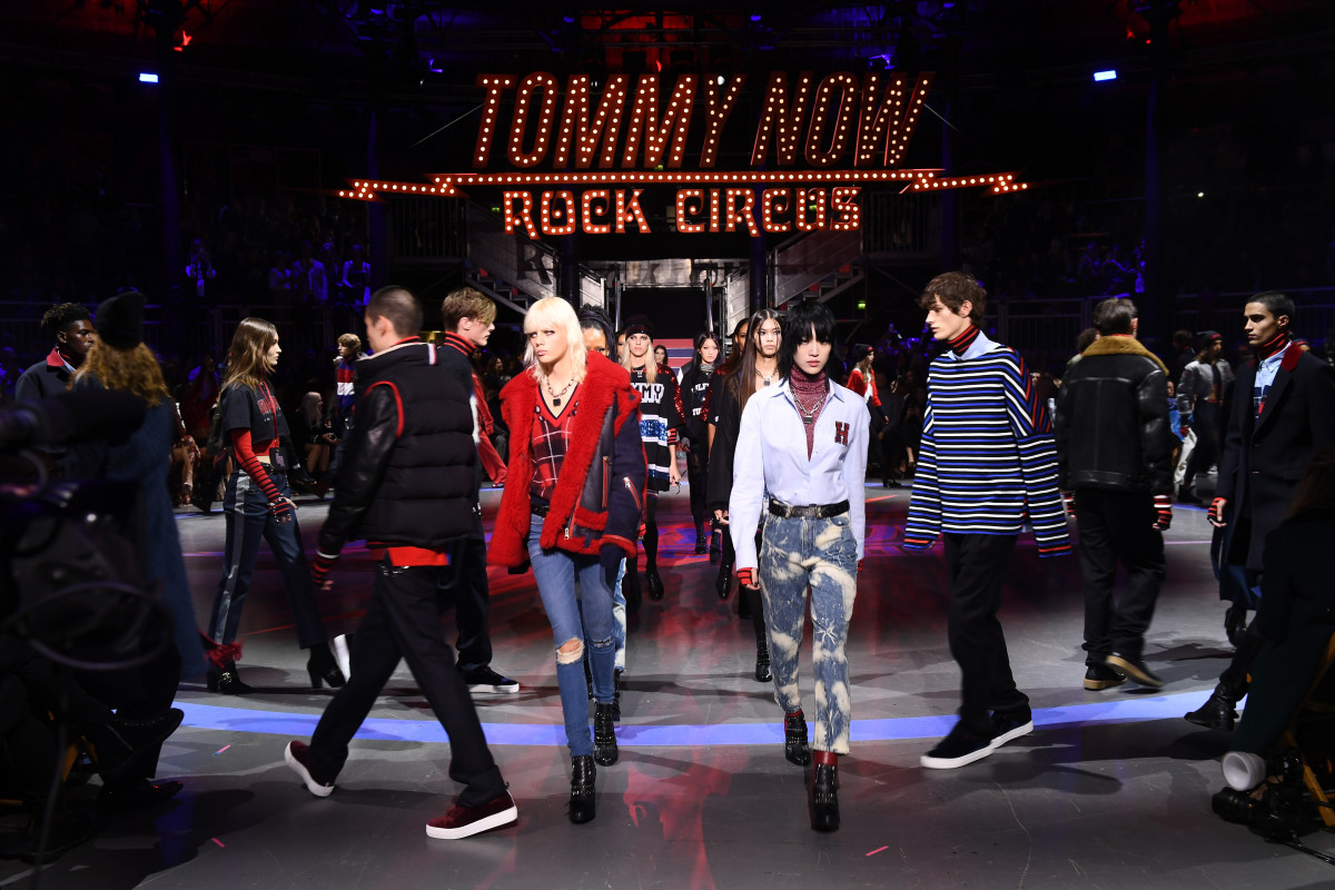 "Tommy Now Fall 2017 ""rock circus."" Photo: Ian Gavan/Getty Images"