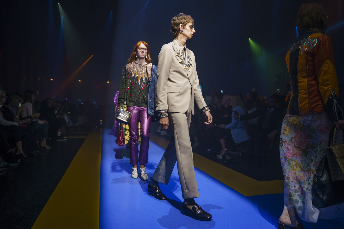 Looks from Gucci's Spring 2018 collection. Photo: Imaxtree