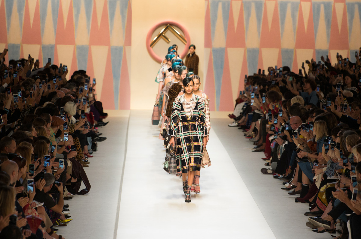 Looks from Fendi's Spring 2018 collection. Photo: Imaxtree