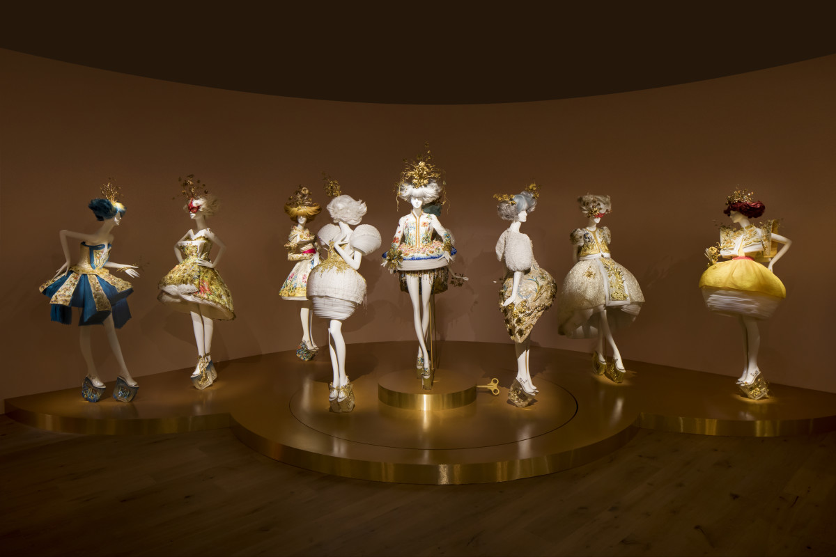Collection of eight dresses in support of Guo's 2015 collaboration with MAC. Photo: Courtesy of SCAD