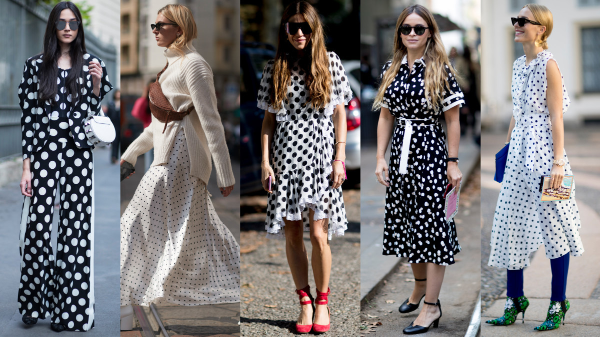 Polka Dots Proved To Be A Very Popular Print At Milan