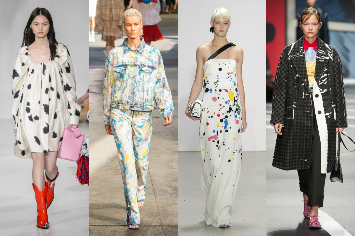 Calvin Klein, MSGM, Oscar de la Renta and Prada. Photos: Imaxtree