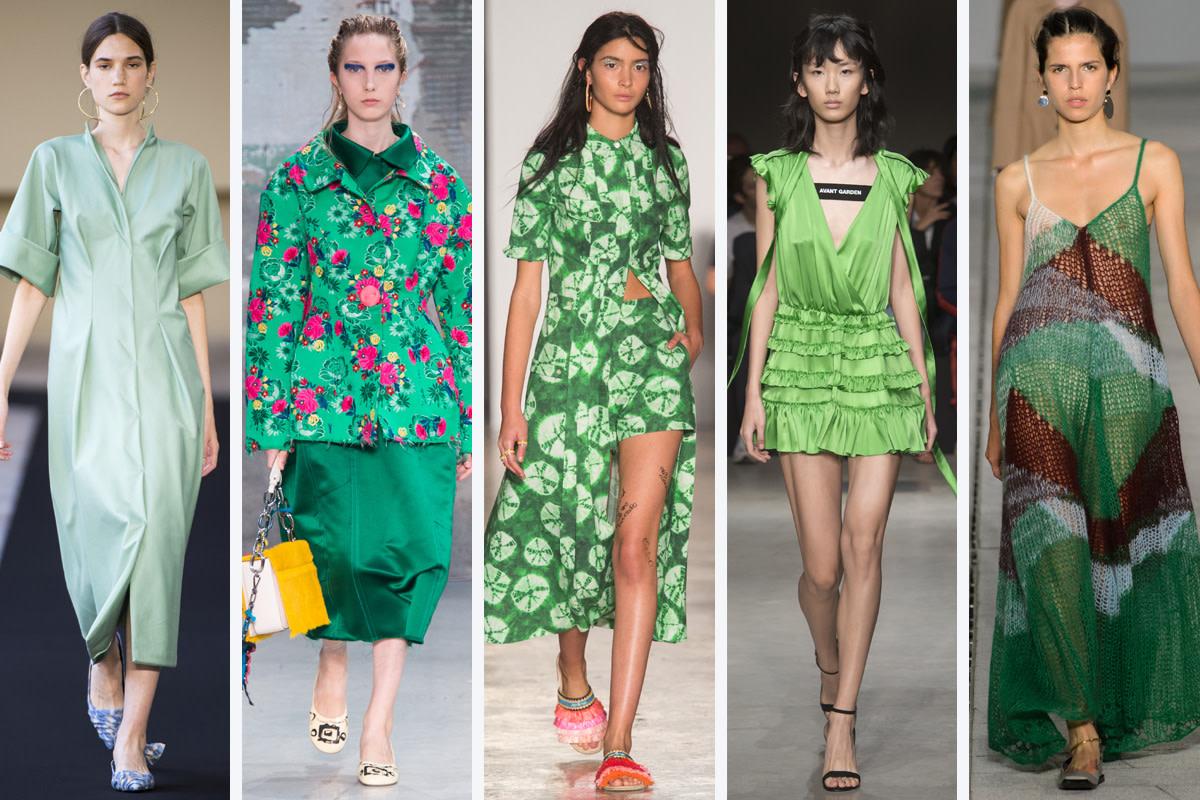 (L-R): Mila Schon, Marni, Stella Jean, Brognano and Jil Sander. Photos: Imaxtree