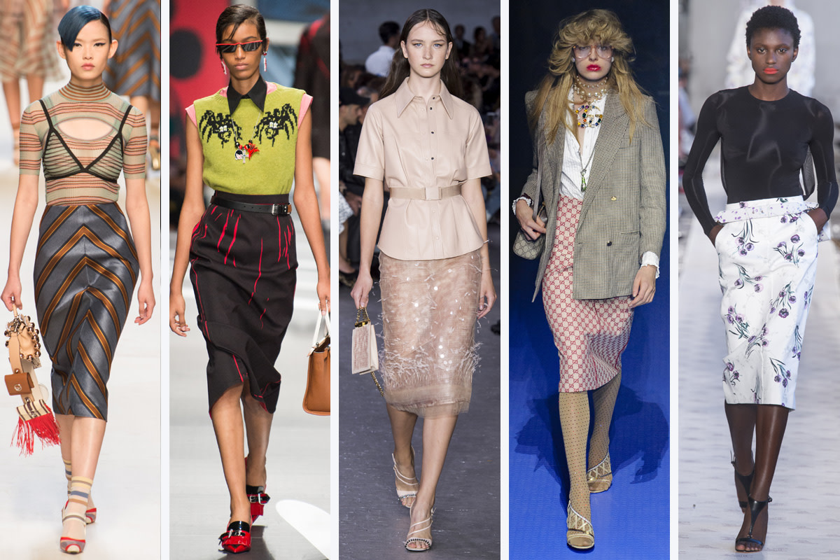 (L-R): Fendi, Prada, No. 21, Gucci and Max Mara. Photos: Imaxtree