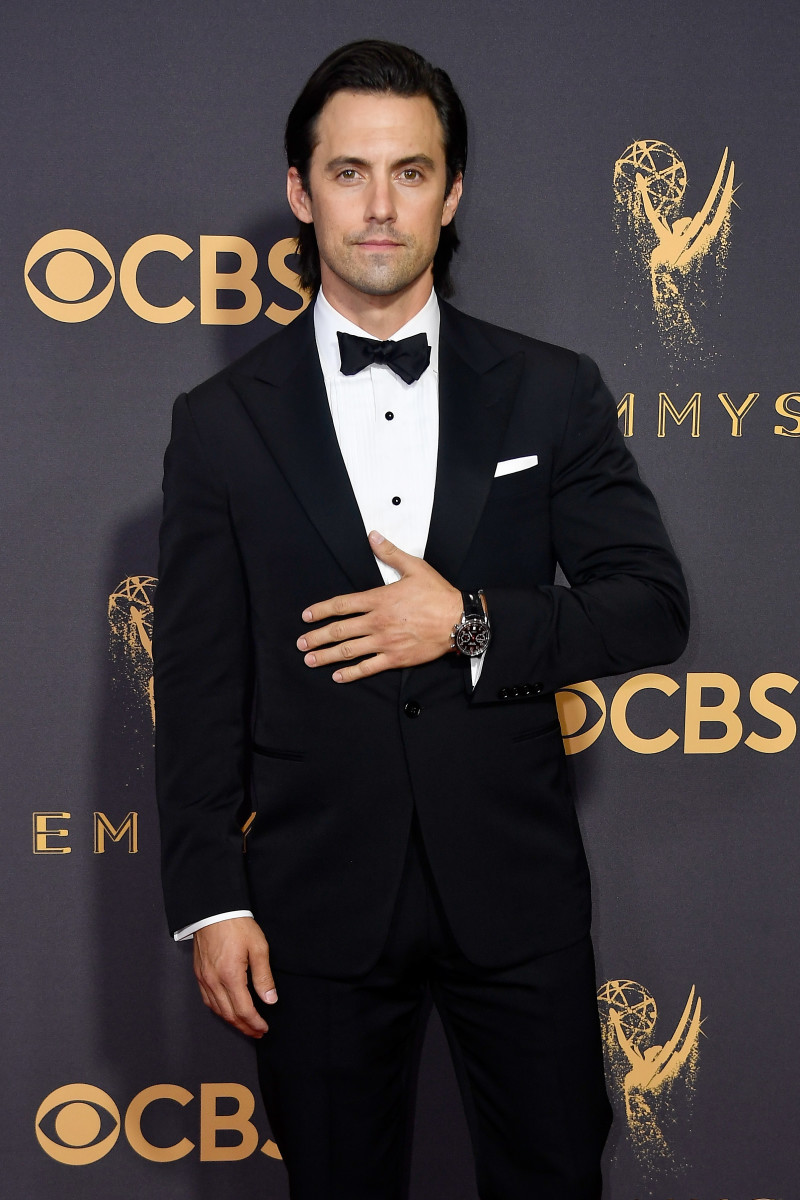 Milo Ventimiglia at the 2017 Emmy Awards. Photo: Frazier Harrison/Getty Images