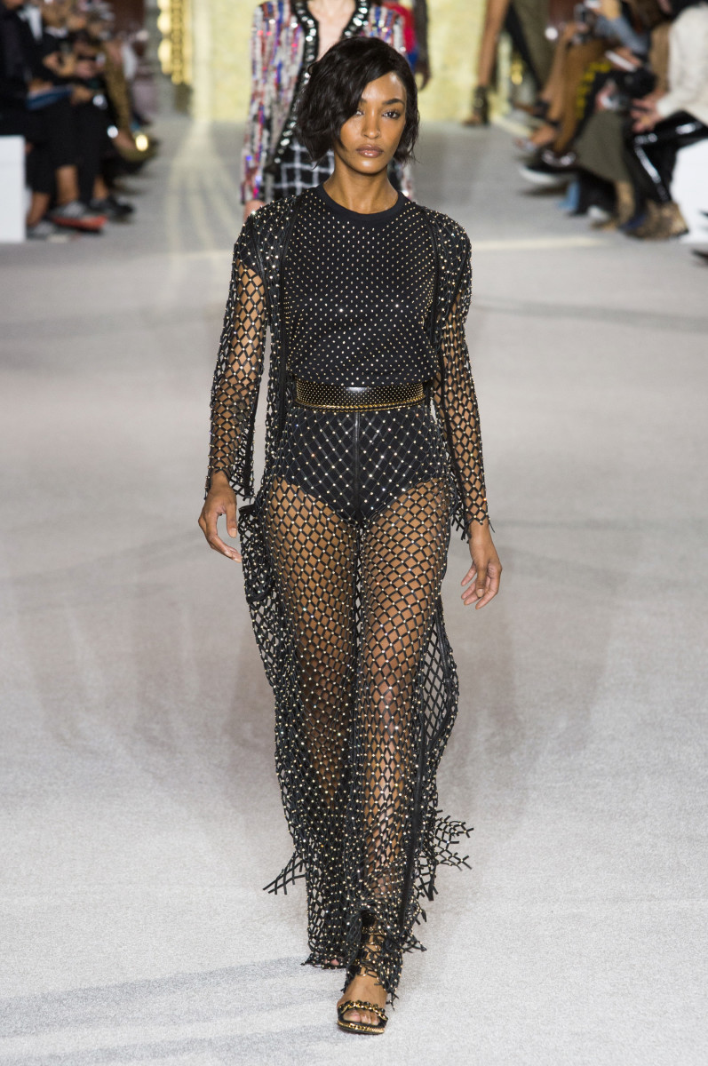 A look from the Balmain Spring 2018 collection. Photo: Imaxtree