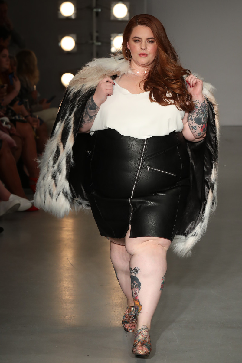 Holliday on the SimplyBe 'Curve Catwalk' during London Fashion Week. Photo: Neil P. Mockford/Getty Images)