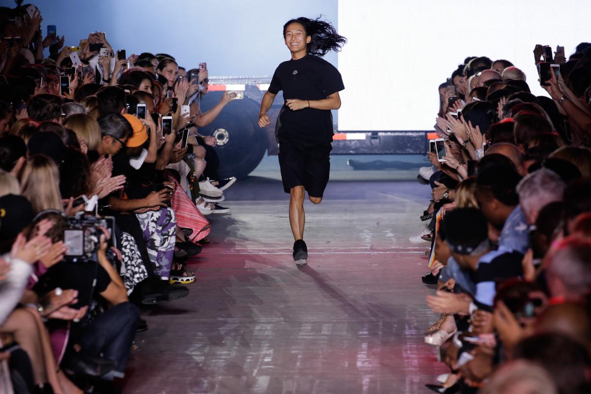 Alexander Wang at his Spring 2017 runway show. Photo: JP Yim/Getty Images