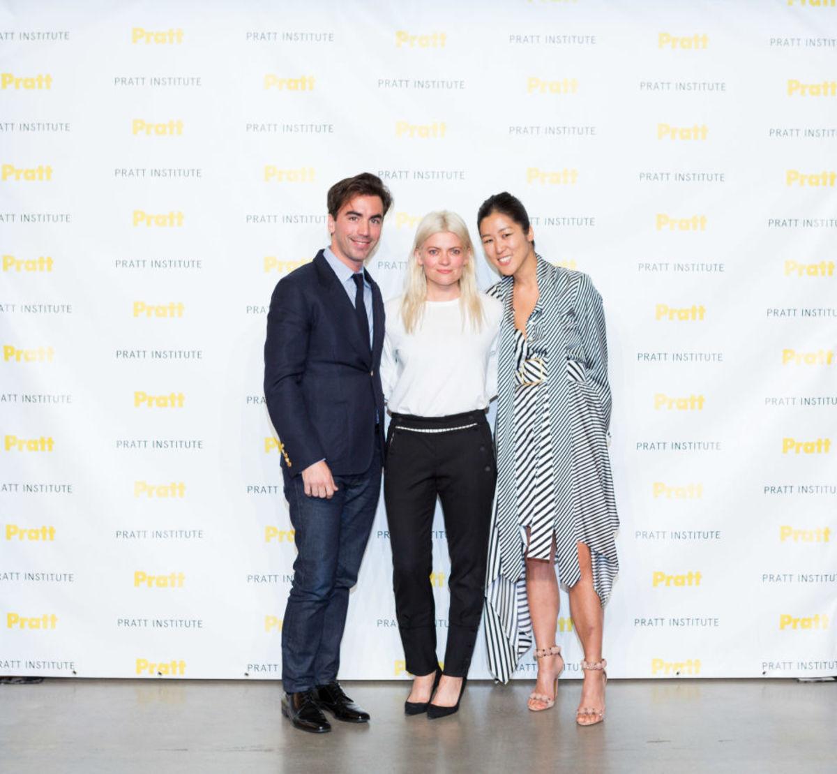 Fernando Garcia, Kate Young and Laura Kim at the 2017 Pratt Fashion Show. Photo: Daniel Terna/Pratt Institute