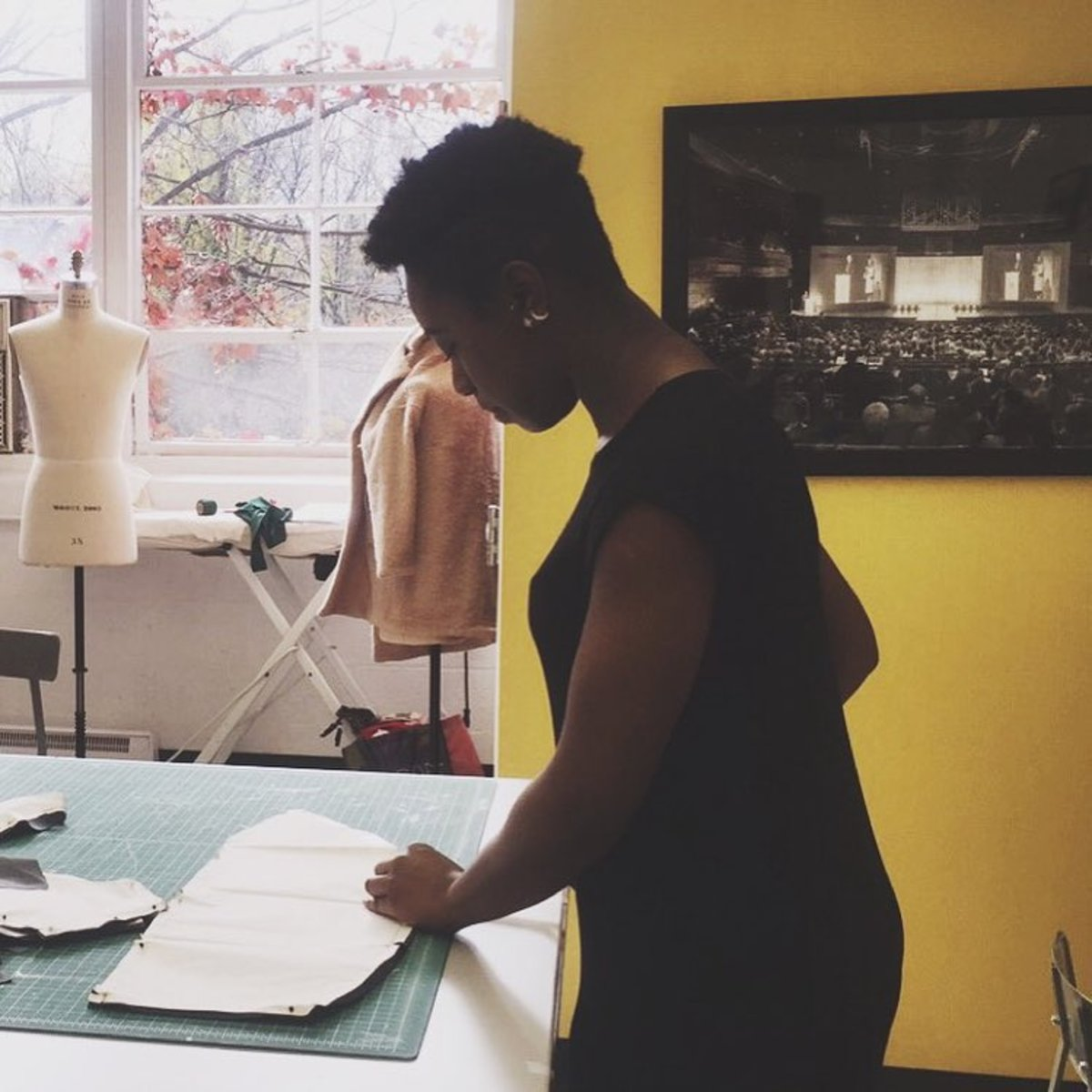A PhilaU fashion student. Photo: @philau_fashiondesign/Instagram